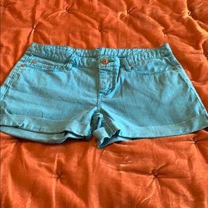 QUIKSILVER WOMEN Cuffed Denim Shorts